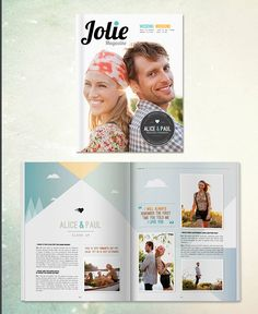 Magazine-style wedding programs and invites By Twenty Pages