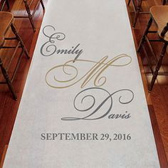 This Fancy Script Wedding Aisle Runner add personalized charm and charisma to any wedding day celebration! Monogram Wedding, Personalized Wedding, Wedding Signs, Our Wedding, Wedding Stuff, Dream Wedding, Aisle Runner Wedding, Graduation Party Favors, Event Planning Tips
