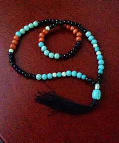 Spirit prayer Beads  turquoise  prayer beads by TriquetraBoutique