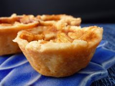 mini apple pies in mini muffin tins.
