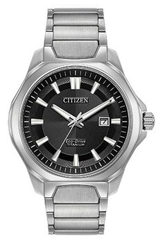 Citizen Super Titanium AW1540-88E This Ti+IP timepiece is 40% lighter than stainless steel and 5 times harder to resist scratches with a sporty appeal.
