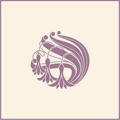 Design element in art nouveau style royalty-free stock vector art Fleurs Art Nouveau, Motifs Art Nouveau, Design Art Nouveau, Art Nouveau Flowers, Art Nouveau Pattern, Art And Craft Design, Art Design, Studio Design, Flower Line Drawings