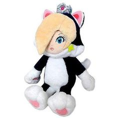 "Little Buddy Super Mario Bros. 3D World Cat Rosalina 9 "" Plush Figure"