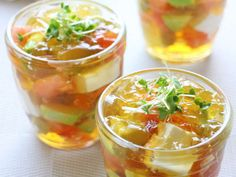 レンジで簡単♪夏野菜と豆腐の和風ジュレの画像