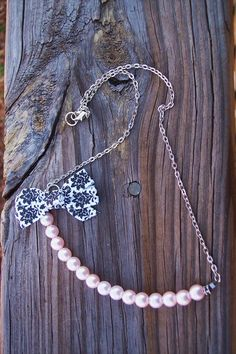Pink Pearl Necklace with Black and White by BadGirlForeverJewels, $18.99