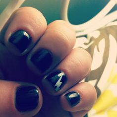I hate short black nails. They're so gothy and scary.