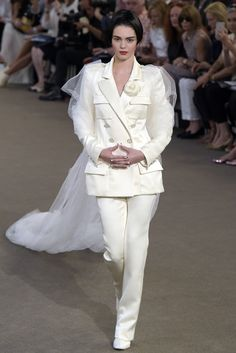 Kendall Jenner closes the show at Chanel Couture Fall 2015 as this season's Chanel bride. [Photo: Giovanni Giannoni]