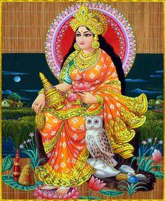 "☀ SHRI LAKSHMI DEVI ॐ ☀ ""I offer my obeisances unto the Goddess who is the abode of lotuses, who holds the lotus, whose eyes resemble the petals of a lotus, whose face is a lotus, and who is dear to the Lord who has a lotus navel. Shiva Art, Shiva Shakti, Krishna Art, Hindu Art, Durga Maa, Radhe Krishna, Indian Goddess, Mother Goddess, Goddess Lakshmi"