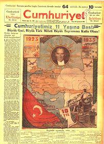 IŞIK: 29.10.1933 Tarihli Cumhuriyet Gazetesi ve Yunus Nadi'nin Başyazısı