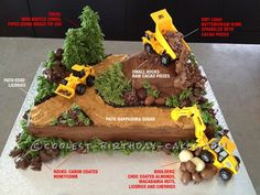 """A Realistic Construction """"Wow"""" Cake that Stole the Show! ...This website is the Pinterest of birthday cakes"""