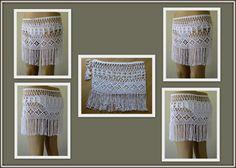 EXPRESS CARGO White Color crochet skirt crochet by formalhouse