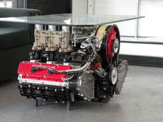 porche engine coffee table
