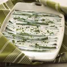 Creamy Goat Cheese Green Beans