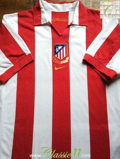 Relive Atlético Madrid's 2003 centenary season with this vintage Nike home football shirt.
