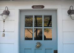 Blue, glazed, cottage front door