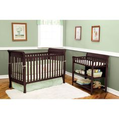 Delta Glenwood Crib and Changing Table in Espresso