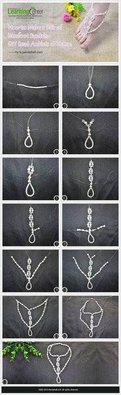DIY Bead Anklets #diysandals