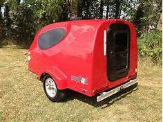 mypod trailer  by little guy, fiberglass body makes it light to tow.