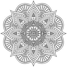 mandala: Round vector ornament in ethnic style. Hand draw Illustration