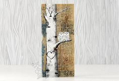 Snowy Owl Painting Wood 5th Anniversary Gift Owls Rustic Wood