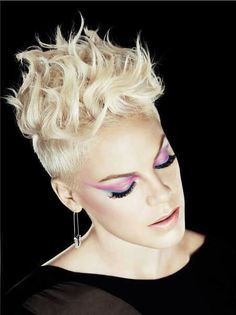 Stunning photo of P!nk.  Absolutely beautifully edgy!!