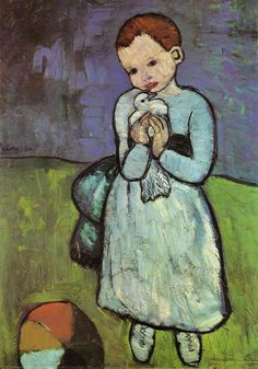 Pablo Picasso Child Holding A Dove 1901