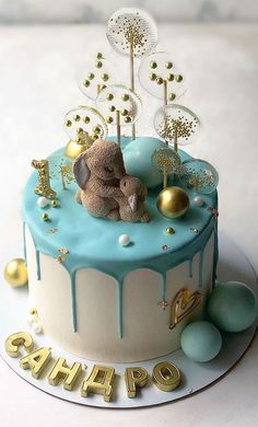15 The Cutest First Birthday Cake Ideas, 1st birthday cakes First Birthday Cake Pictures, One Year Birthday Cake, Birthday Cake Kids Boys, Boys First Birthday Cake, Cute Birthday Cakes, Baby Cake Smash, Baby Boy Cakes, Girl Cakes, Cupcakes For Boys