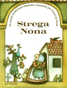 """Strega Nona, I used to love to go to the library in elementary school and """"read"""" this book on microfilm. Spaghetti, anyone?"""