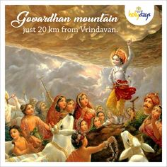 Legend has it that Sri Krishna lifted the Govardhan Hill to protect the Brajwasis from the terrible rain that an angry Lord Indra had sent. The next time you do a #GovardhanParikrama, you can come back and relax in your home in Vrindavan. #KrishnaBhumiHolydays