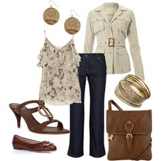 Cropped Jeans for Spring, Polyvore