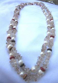 perle cuart Beaded Necklace, Vintage, Jewelry, Fashion, Beaded Collar, Moda, Jewlery, Bijoux, Fashion Styles
