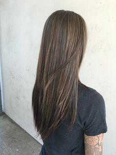 Long hair, ash blonde hair, highlights, low lights, dark brown hAir
