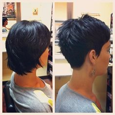 Proper Pixie Cut. Short but really cute, i think I'm going to go back to this. so cute and easy