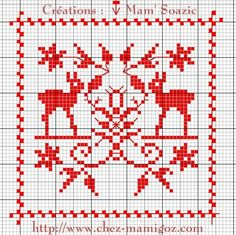SAL : Plaid Broderie Rouge... Grille 63/ A3