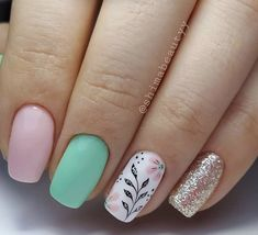 Crazy Nail Art, Crazy Nails, Pretty Nail Art, Floral Nail Art, Pink Nail Art, Pink Nails, French Nail Designs, Acrylic Nail Designs, Nail Art Designs