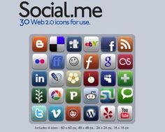 33 hermosos iconos redes sociales para descarga