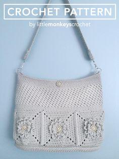 Crochet Purse Pattern, Shoulder Bag Crochet (The Wildflower Shoulder Bag Crochet…