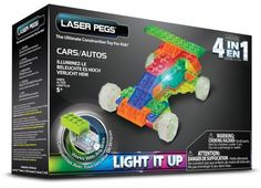Laser Pegs 4-in-1 Cars Building Set $9.44