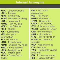 Internet Slang refers to a variety of slang languages used by different people on the Internet