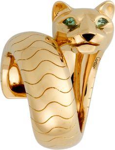 Panthère de Cartier ring Yellow gold, tsavorite garnets, onyx