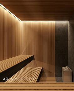 Cove Lighting, Interior Lighting, Sauna Lights, Spa Lounge, Sauna Design, Outdoor Sauna, Sauna Room, Starter Home, Container House Design