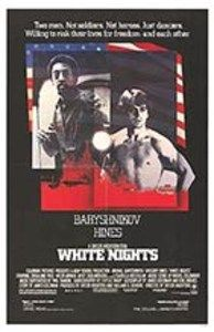 White Nights-The story of Nikolai Rodchenko (Mikhail Baryshnikov), a Russian defector, and Raymond Greenwood (Gregory Hines), an American tap dancer who defected behind the Iron Curtain during the Vietnam War. Artistic vision and political idealism collide as two great dancers make a decision that will change their lives forever.