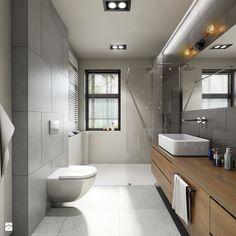 metamorfoza łazienki - Średnia łazienka w bloku w domu jednorodzinnym z oknem, styl nowoczesny - zdjęcie od Pracownia Wielkie Rzeczy