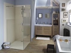 1000 images about salle de bain on pinterest interieur for Receveur a carreler leroy merlin