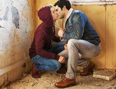 even if it's just pretend My Kind Of Love, Man In Love, Sterek Fanart, Teen Wolf Mtv, I Believe In Love, Men Kissing, Love Kiss, Just Pretend, Dylan O