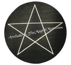 $139.97 Pentacle Carpet Rug   6 Foot Is Black With Off White Pentacle, And  Measures