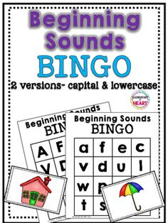 Beginning Sounds Bingo Comprehension Activities, Literacy Centers, Alphabet Activities, Teaching Phonics, Teaching Kindergarten, Beginning Sounds, Reading Centers, Preschool Lessons