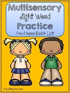 Are you ready to help those learners who are struggling to learn sight words? Ready to get your students actively engaged? Then this packet is for you! Each worksheet in this packet has your students using multisensory techniques to improve their sight word knowledge!