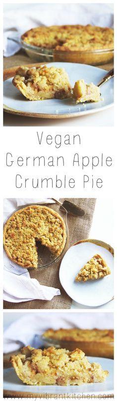 My Vibrant Kitchen | Vegan German Apple Crumble Pie | myvibrantkitchen.com