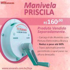 Manivela Priscila  Por R$160,00  www.sovarais.com.br/loja